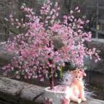 Мечтаете о маленьком домашнем деревце? Сделайте бонсай из бисера!