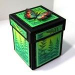 Необычный сувенир маме, сестре или девушке на 8 марта – коробка с бабочками