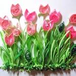 Квиллинг: красота из бумажных полосок. Делаем открытку для мамы на 8 марта!