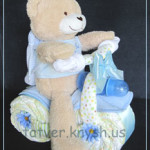 Подарки из памперсов для новорожденных мальчиков: велосипеды, машинки, паровозы…