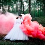 Идеи для фотосессий с цветным дымом